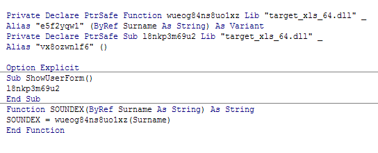 Compiled VBA code