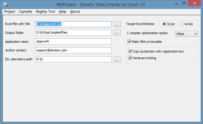 VBA Compiler option settings
