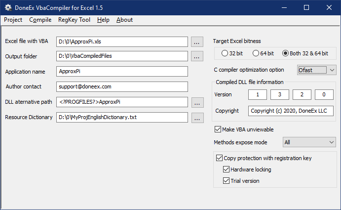 VbaCompiler for Excel - Excel VBA protection software