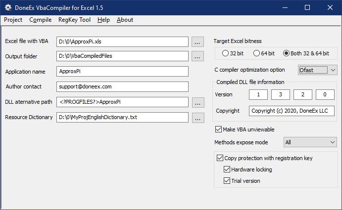 VbaCompiler for Excel - Excel VBA protection software